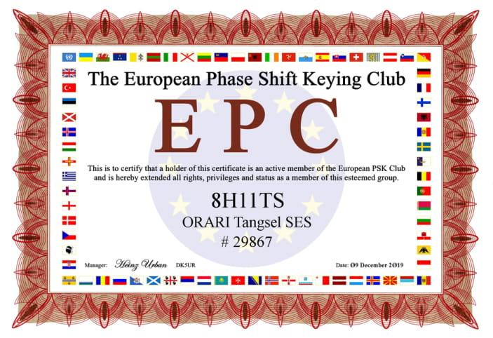 EUROPEAN PHASE SHIFT KEYING CLUB 8H11TS