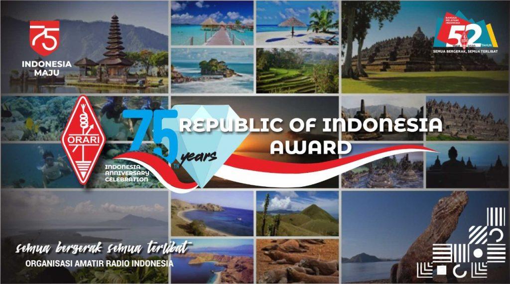 YH1RI di ORARI 75 Years Republic Of Indonesia Award