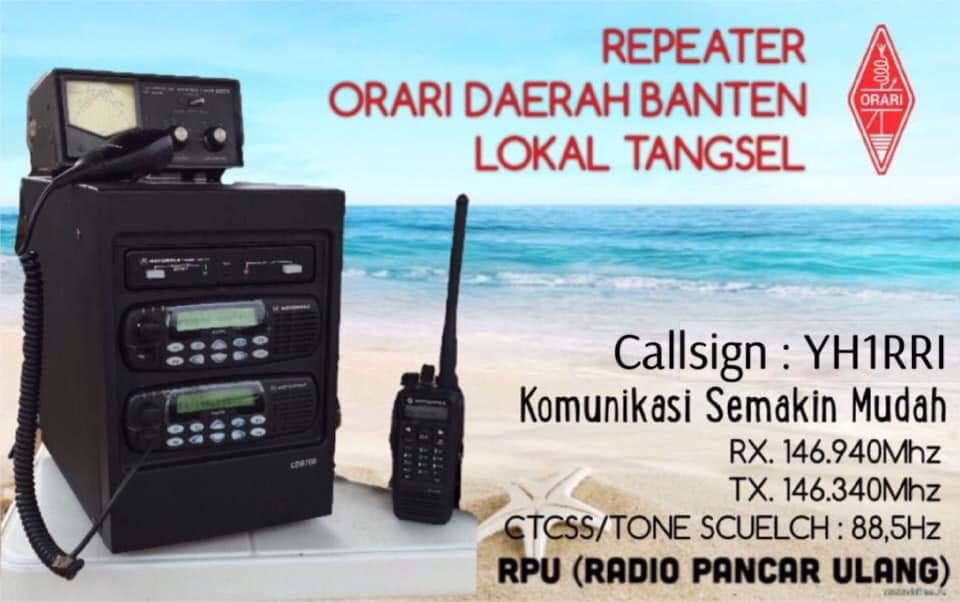 Repeater ORARI Daerah Banten Lokal Tangerang Selatan YH1RRI